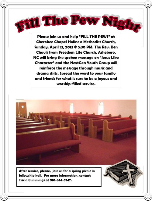 Fill The Pew Flyer