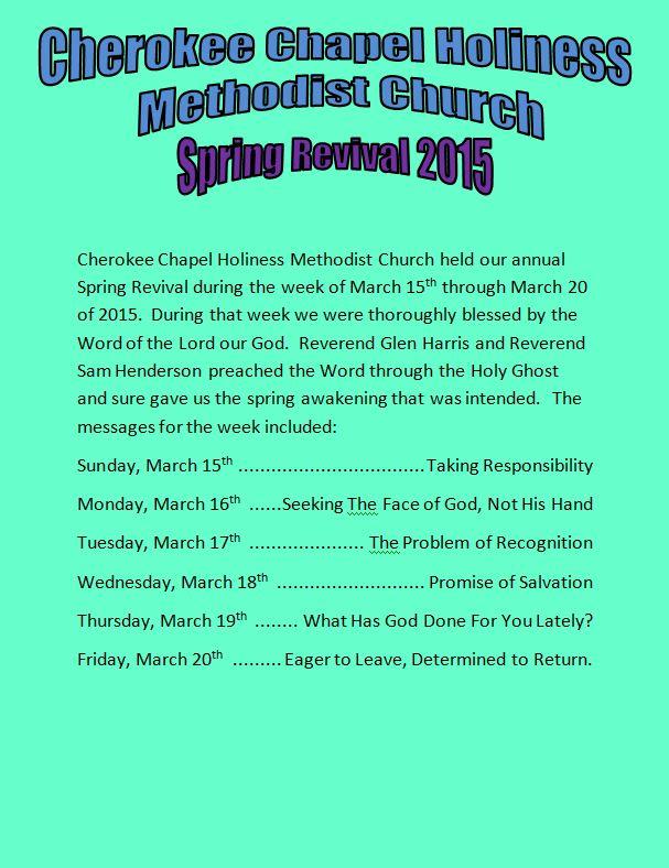 spring revival 15