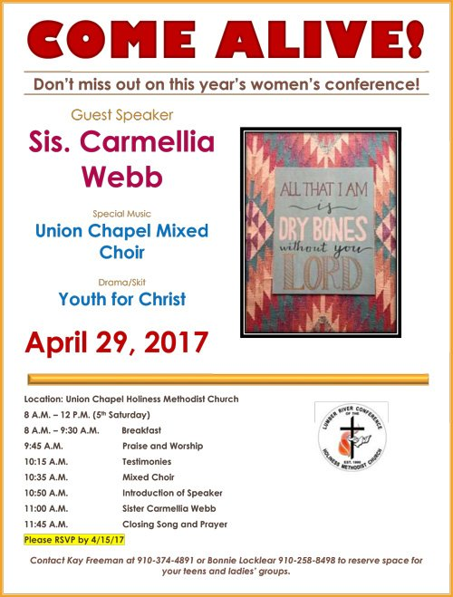 COME ALIVE womens conference flier2017