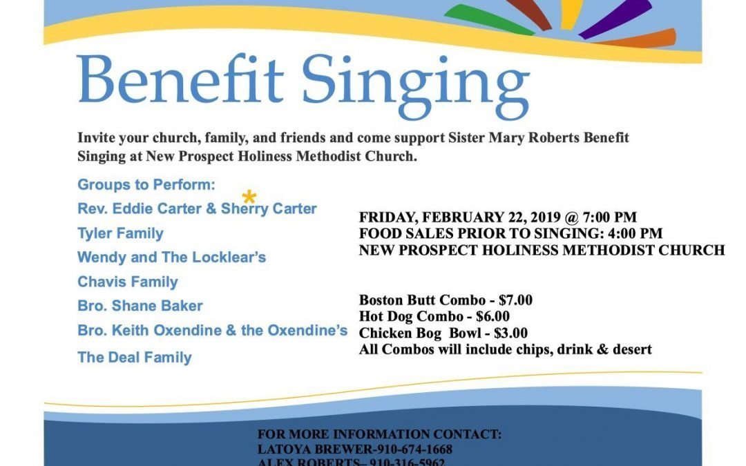 Benefit Singing (New Prospect) 2019