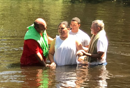 Baptism at the Lumber River Hopewell and Macedonia 2019