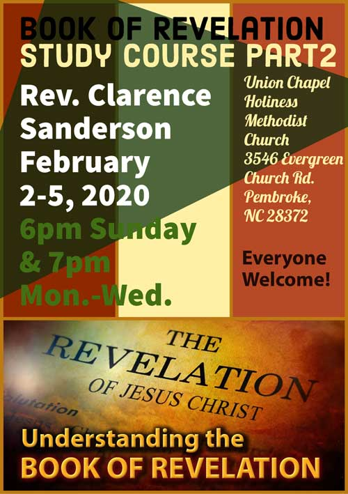 Study Course: Book of Revelation PT 2 2020 ( Union Chapel)