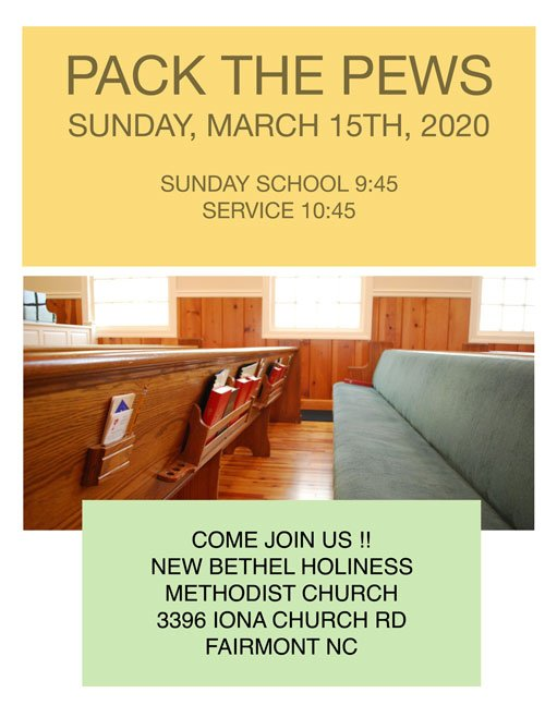 Pack the Pews (New Bethel) 2020